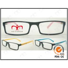 Vente classique et chaude avec décoration en métal pour lunettes de lecture en plastique unisex (LZ903)