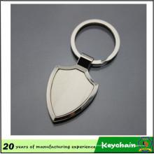 Llavero en forma de escudo en blanco de metal personalizado