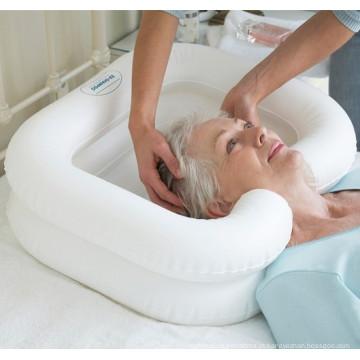 Bacia de lavagem médica inflável do cabelo, bacia portátil do cabelo, bacias de lavagem do salão de beleza do cabelo