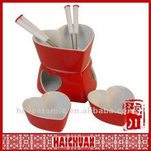Keramik-Mini-Fondue-Schokolade, Keramik-Fondue-Topf