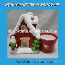 Popular design ceramic flower vase in santa shape