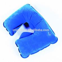 Almofada de plástico PVC inflável viagem pescoço
