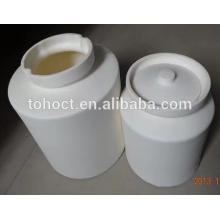 95% / 99% Alumina Al2O3 pote de cerâmica porcelana pote de cerâmica