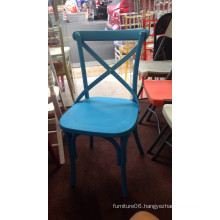 Resin Cross Back Chair at Party
