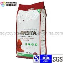 5 kilogramos embalaje laminado del alimento de animal doméstico de la dimensión de una variable