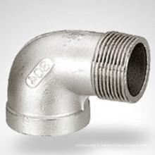 150lb Bsp / NPT Filé Hydraulique en acier inoxydable Street Elbow
