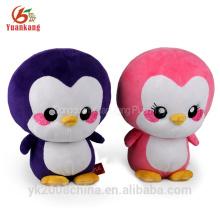Juguetes de pingüino de peluche suave rellenos mini rosa personalizado