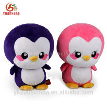 Pelúcia personalizada mini-rosa pinguim de pelúcia macia brinquedos