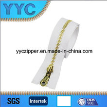 5# Open End Metal Zipper with Brass Teeth