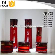 40ml 100ml Kosmetische Glasflasche mit Gesichtscreme