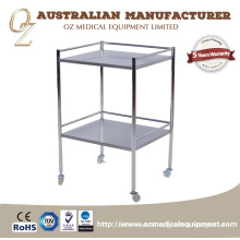 High Quality Patient Nursing Medical Equipment Trolley Stainless Steel Medical Cart