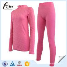 Körperform Jacquard warme lange Unterhosen Unterwäsche Set für Frauen