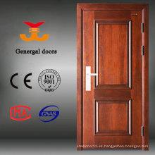 Diseño de puerta de madera principal de MDF de acero