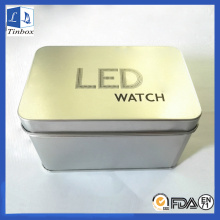 Rectangular Metal Tin Boxes For Watch