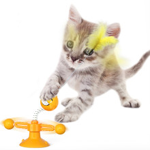Cross-border new product fun to relieve boredom spring turntable people sucker cat cat stick toy