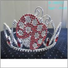 El desfile grande de la perla de la manera al por mayor corona la alta corona personalizada alta personalizada de la tiara
