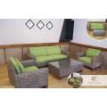 Sofá de mimbre de jacinto de agua de diseño de lujo