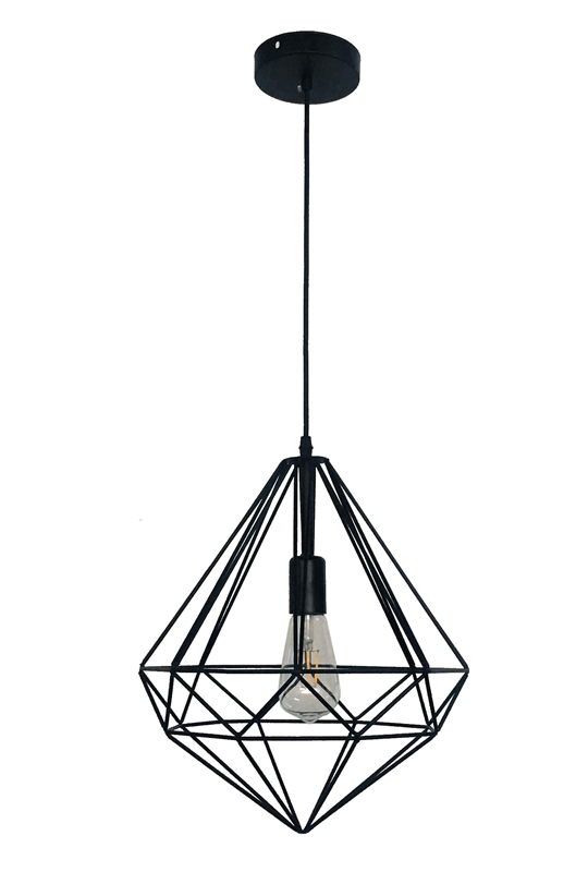 Black Geometric Light