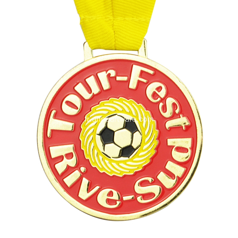Médaille métallique Marathon Basketball Sports Finisher