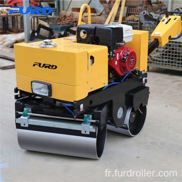 Hand Manual Mini Double Drum Asphalt Roller Machine For Trench Compaction
