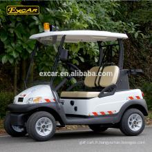 Le CE a approuvé la voiture de patrouille bon marché de voiture de golf électrique de 48V 2 places à vendre