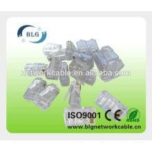8P8C plástico utp rj45 hembra conector conector de cable