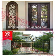 Alibaba fornecedor de projetos de portas de vidro de ferro forjado