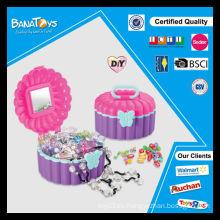 Joyería caliente del juguete de la venta fijada con la caja de exhibición del pdq para los juguetes del grano del cabrito