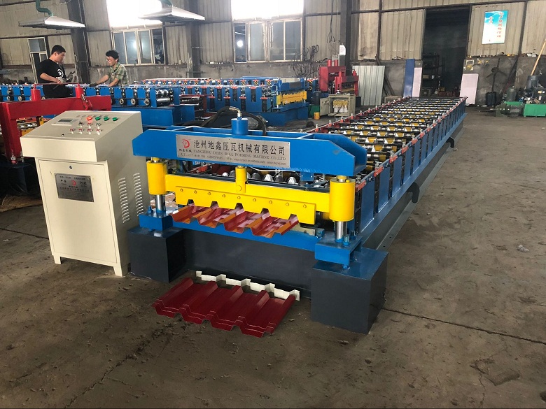 Trapezoidal single sheet roll forming machine