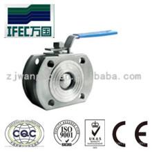 Válvula de bola fina del tipo de la oblea del acero inoxidable sanitario (IFEC-BV100015)