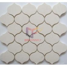 Water Jet Lattern Shape Polished Marble Mosaic (CFS1066)
