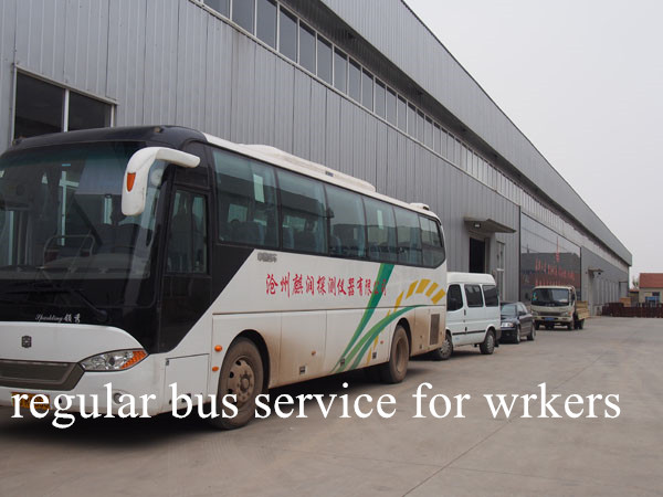regular bus service for workers