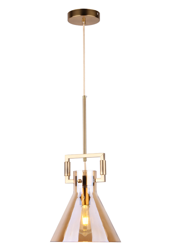 Pendant Lamp Amber Glass