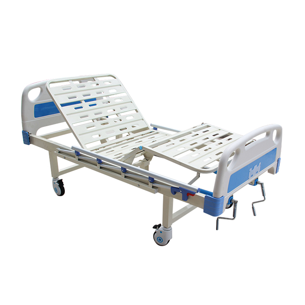 hospital bed in hospital table