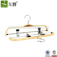 Brand laminated hanger deluxe pants bulk wood hangers