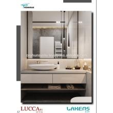 Vanité de salle de bain avec étagères ouvertes et tiroirs à fermeture éclair doux Mdf doux