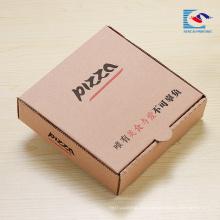 caja de embalaje corrugado de la pizza del diseño personalizado con el logotipo