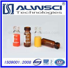 Flacon de réactif chimique en flan clair de 2 ml en verre écrivable en verre transparent Agilent Quality