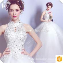 Heiße Fußboden-Längen-Halfter-Ansatz-Spitze Applique Kundenspezifische Vestido De Noiva Braut-Ballkleider Türkische Brautkleider