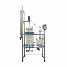 20L Chemical Lab Equipment Crystallization Reactor Filter Glass Reactor Nutsche Filter With Collecting Bottle