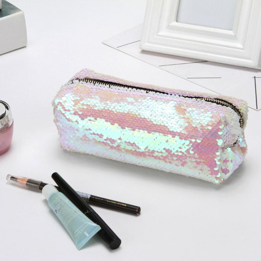 Double Color Bling Sequin Pencil Case 3