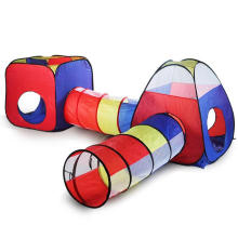 4pc Pop Up Tent For Children kids Tent with Crawl Tunnel, Large Kids Tent House