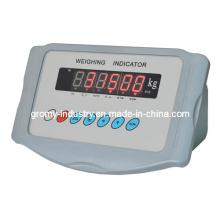 Eletrônico, plástico, pesando, indicador, escala