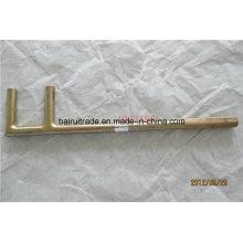 Herramienta de mano de seguridad flexible que no chispea llave de la forma de F, llave de la válvula
