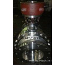 Válvula de bola de extremo de brida API RF con muñón montado