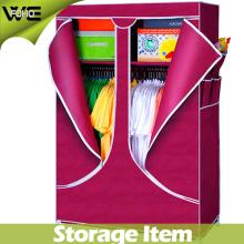 Armario de ropa de almacenamiento Armario de tela plegable Muebles modernos para el hogar