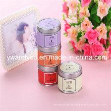 Romantische dekorative duftende Soja-Party-Kerze in Tin