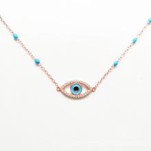 Fashion rose gold plated blue eye jewelry bracelet