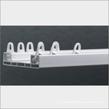2 layer curtains plastic double window pulley track,accessori plastic pole