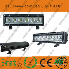Grosses soldes! ! Barre lumineuse à LED hors route 10 pouces, barre lumineuse à LED hors route 12V DC 6PCS * 5W
